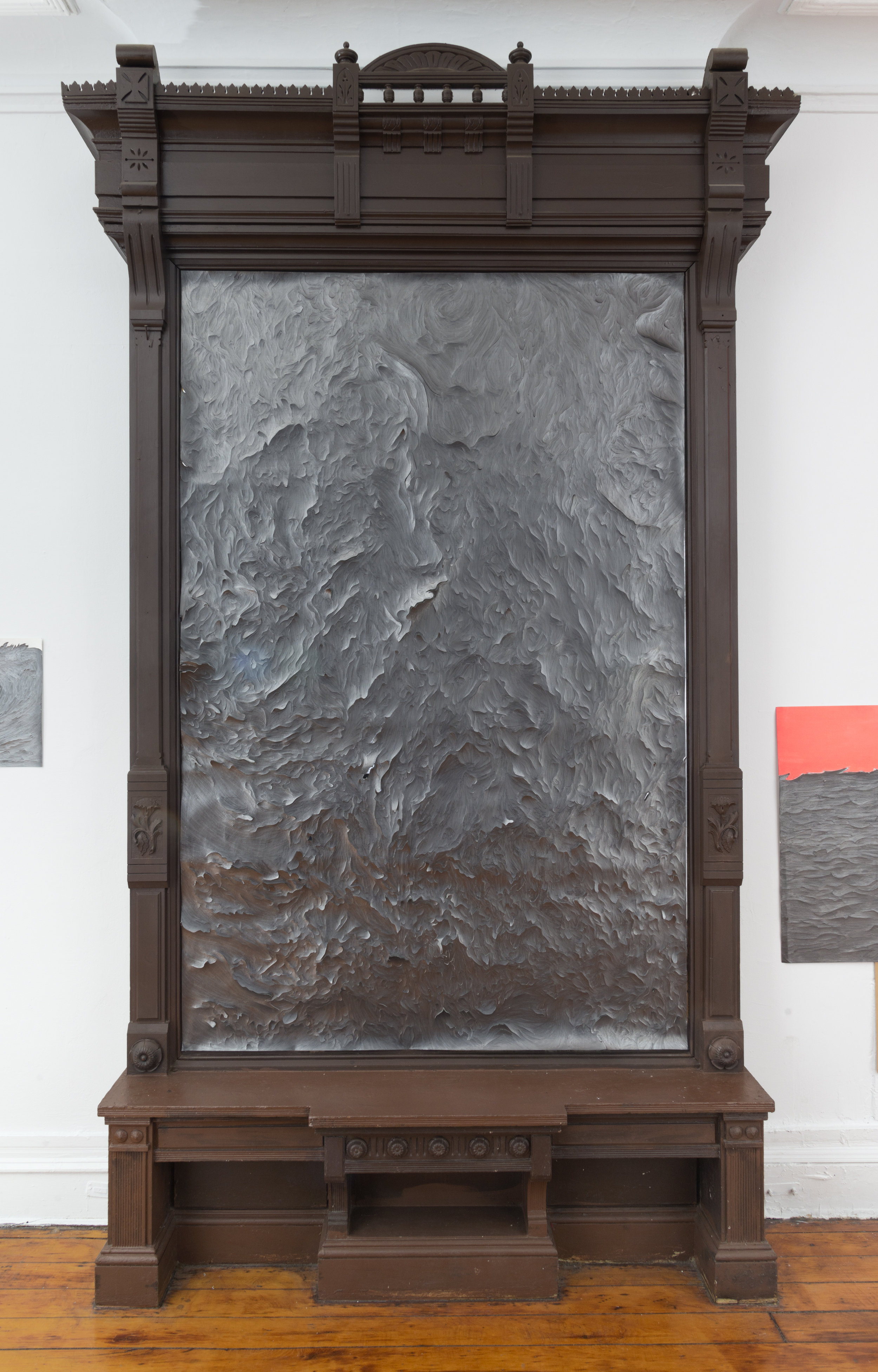 Oasa DuVerney, Black Power Wave Shifting Tides, 2018, graphite on handcut paper, 55 x 84 inches Full Mirror Frame.jpg