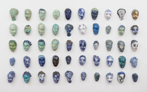 Aisha Tandiwe Bell,  Analogous to the Flag,  2015 stoneware glaze, 42 x 74 inches (106.68 x 187.96 cm)