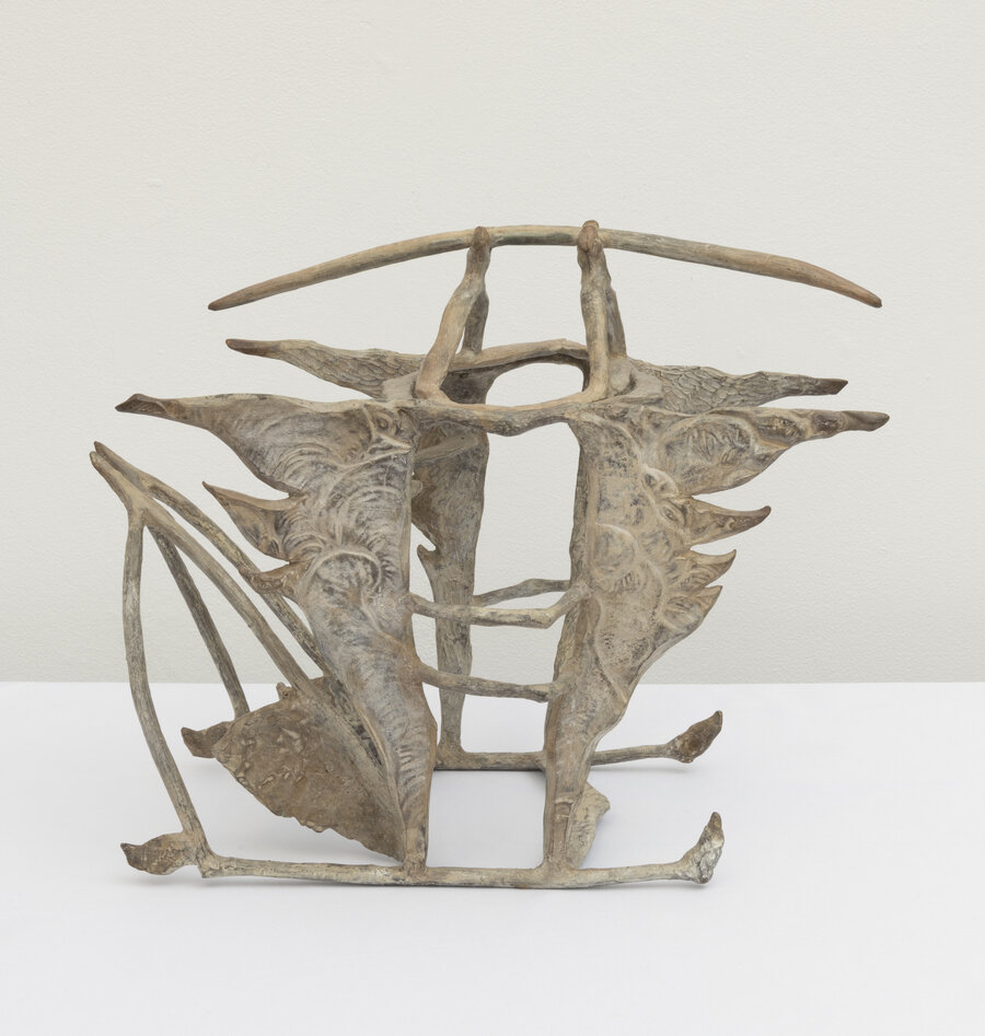Legacy from Olduvai, 1990, Bronze, 16 x 8 x 12 inches