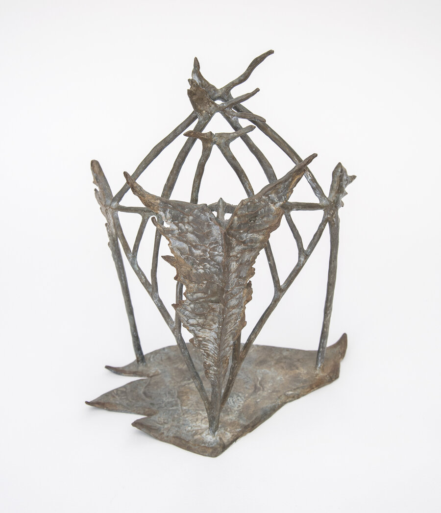 A Woman's Shrine, 1991, Bronze, 13 x 12 x 10 inches