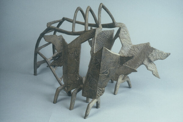 Shrine With Flaming Windows, 1992, Bronze, 16 x 26 x 12 inches