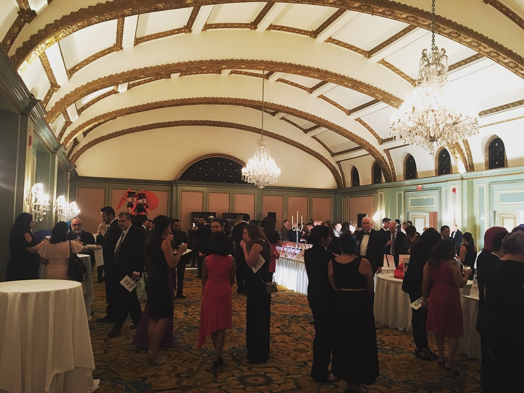 Silent Auction at the  Langham Huntington Pasadena Hotel