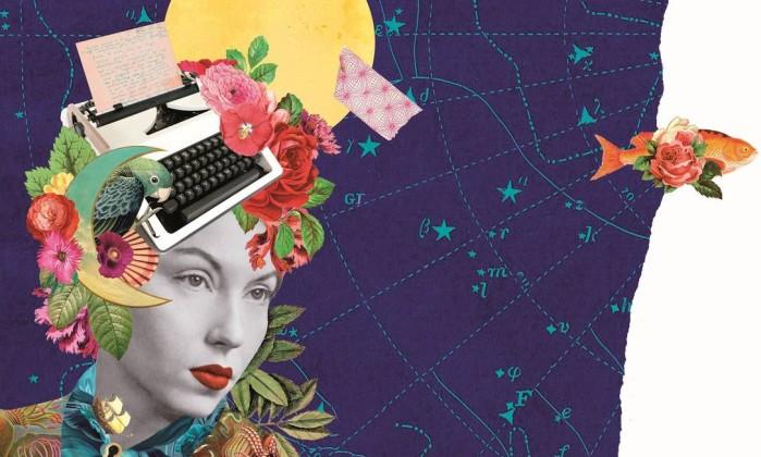 Colagem de Mariana Valente, neta de Clarice