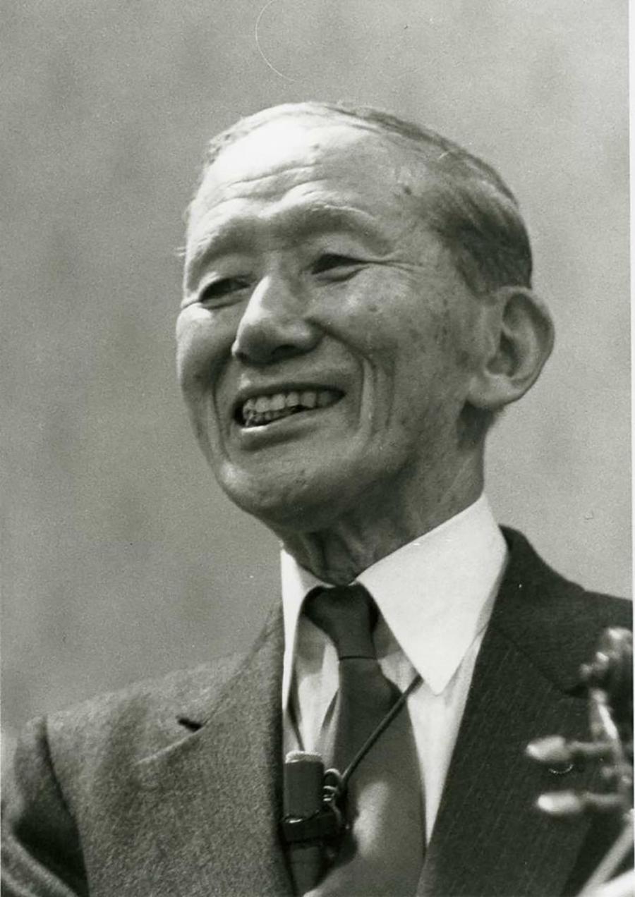 DR. SHINICHI SUZUKI  established the Suzuki Method of music instruction.