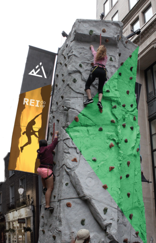 REI Outdoor Rock Climb Pop Up