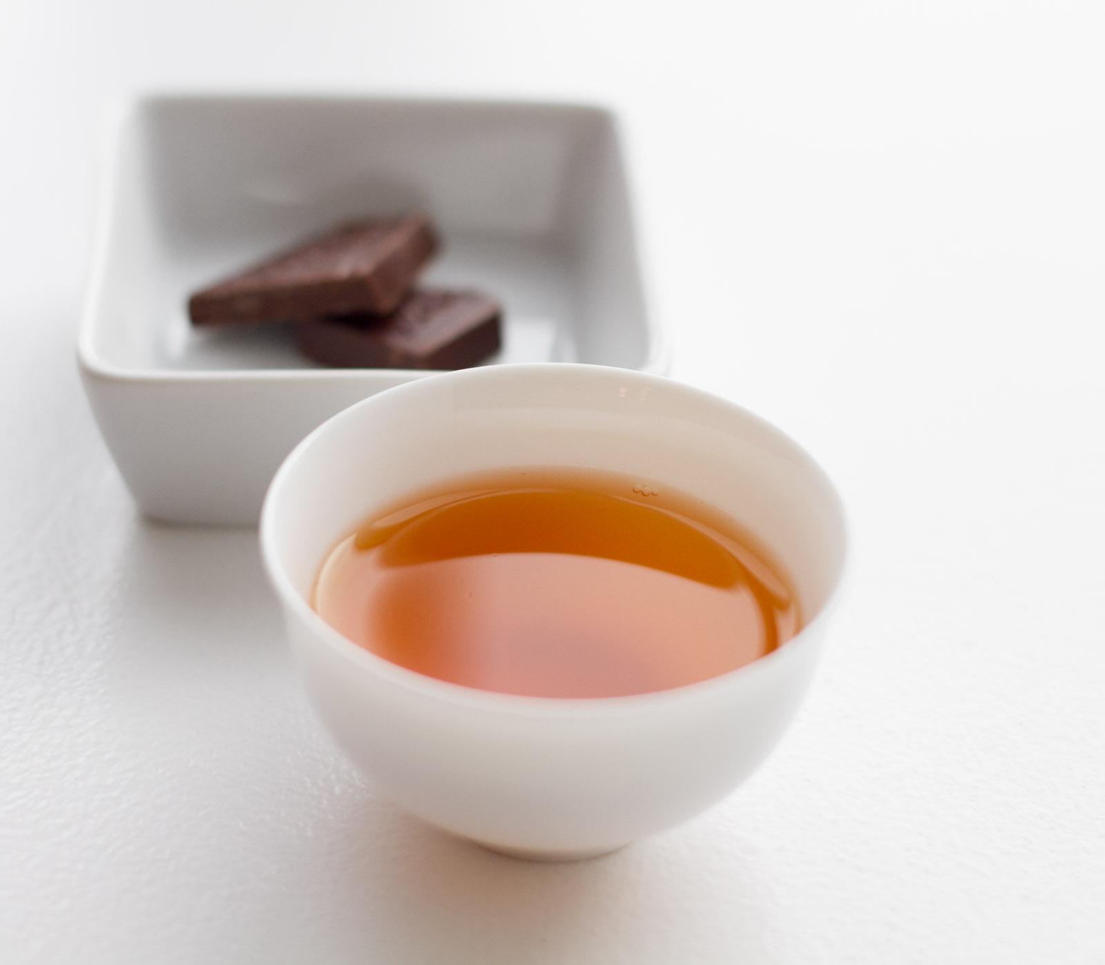 Black Fragrance rare paired with 72% single estate dark chocolate