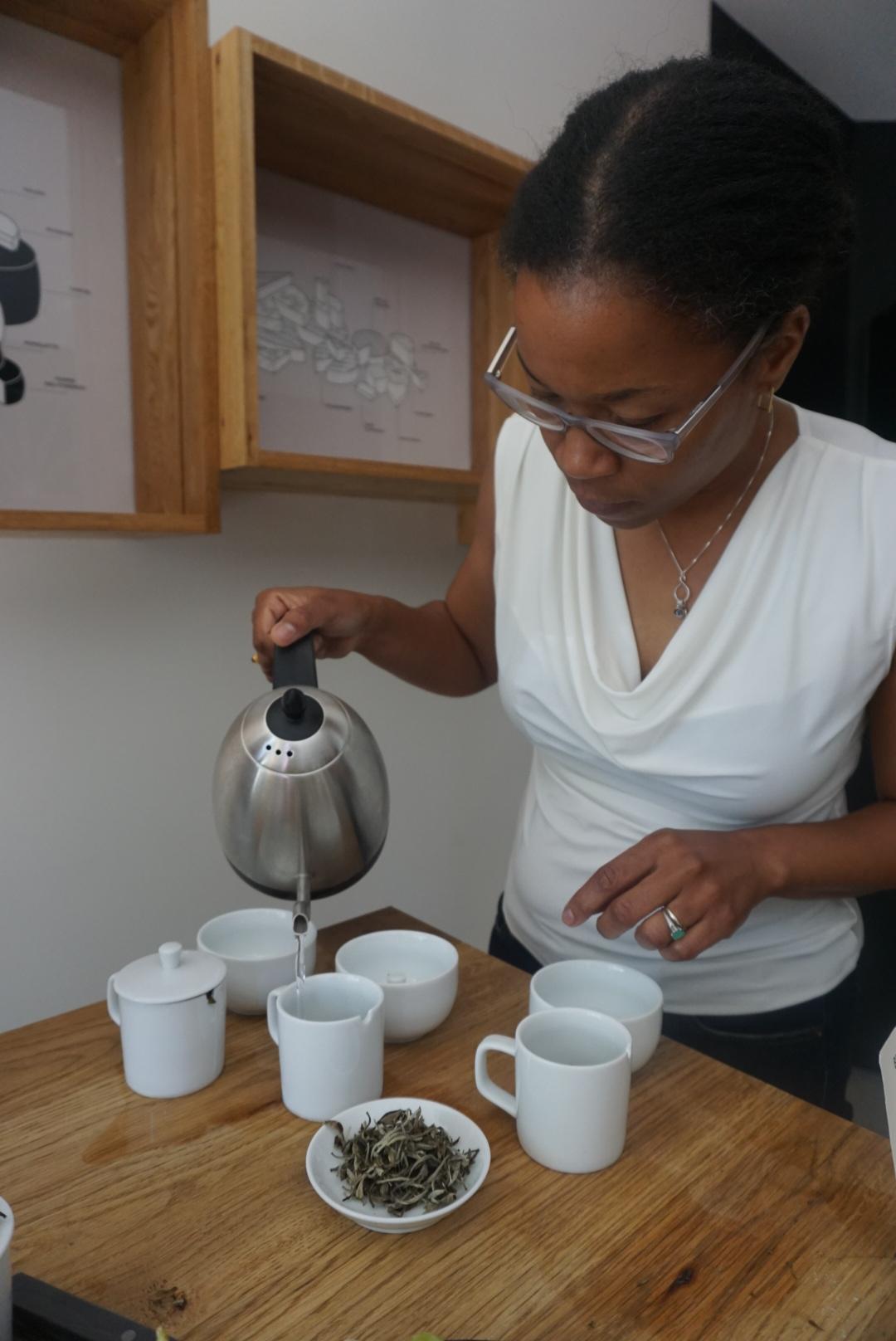 Georgia, pouring, Tea Pairing 101: White Tea (photo taken by Jee Choe)