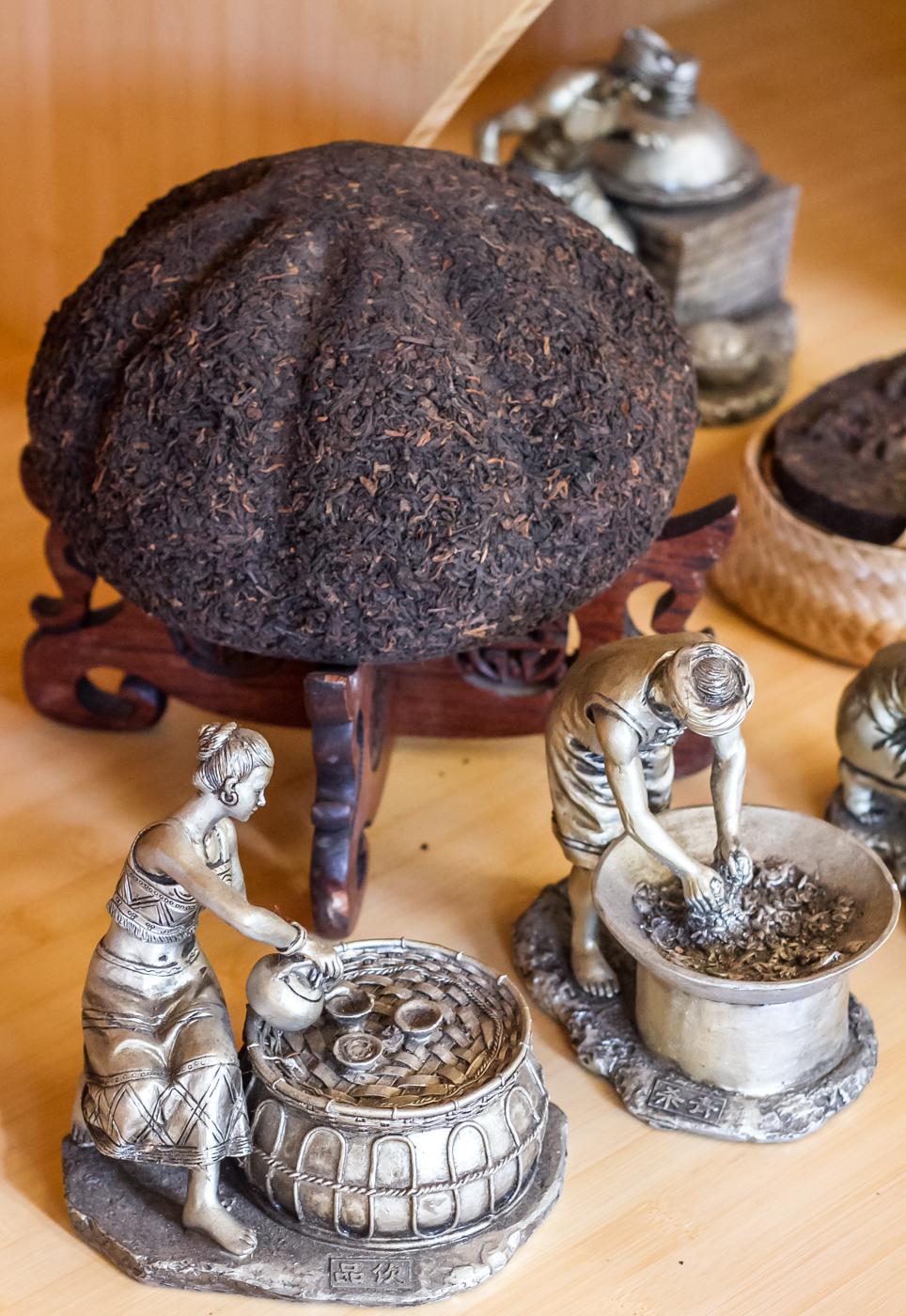 Exhibits at the Tea Museum in Lagunitas