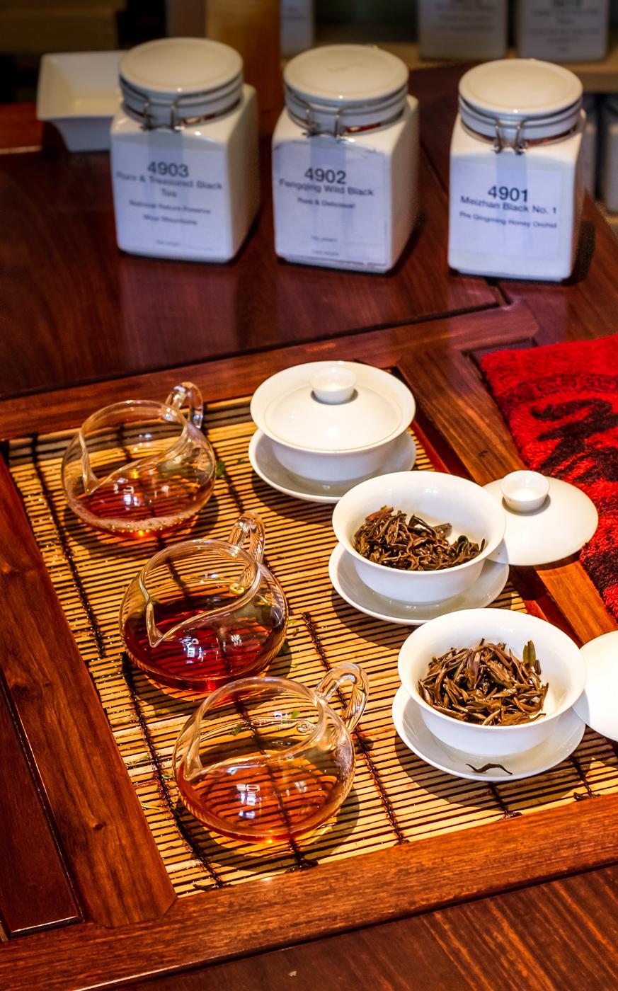 Tea tasting, black teas at The Phoenix Collection
