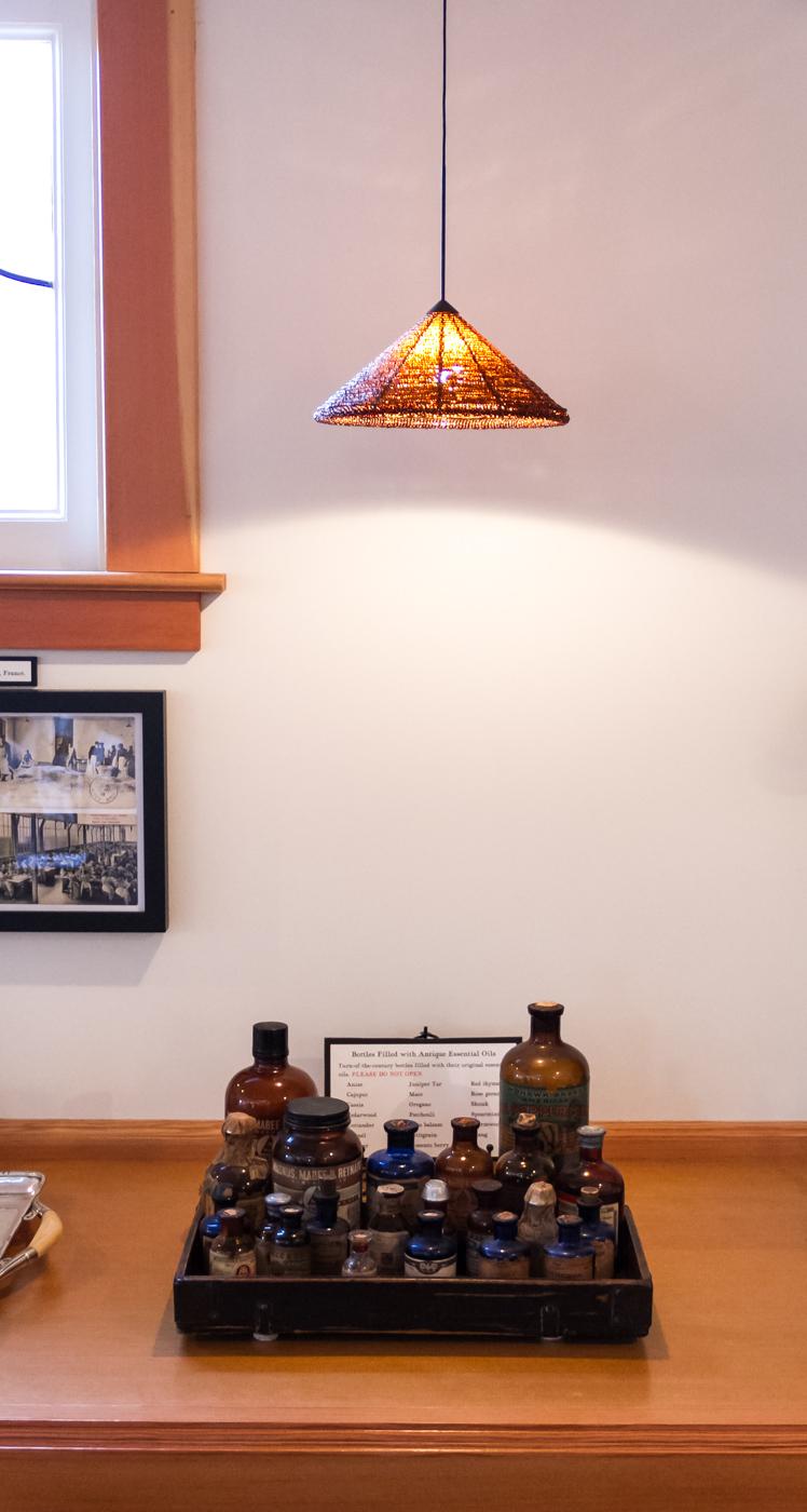 Antique essential oil bottles