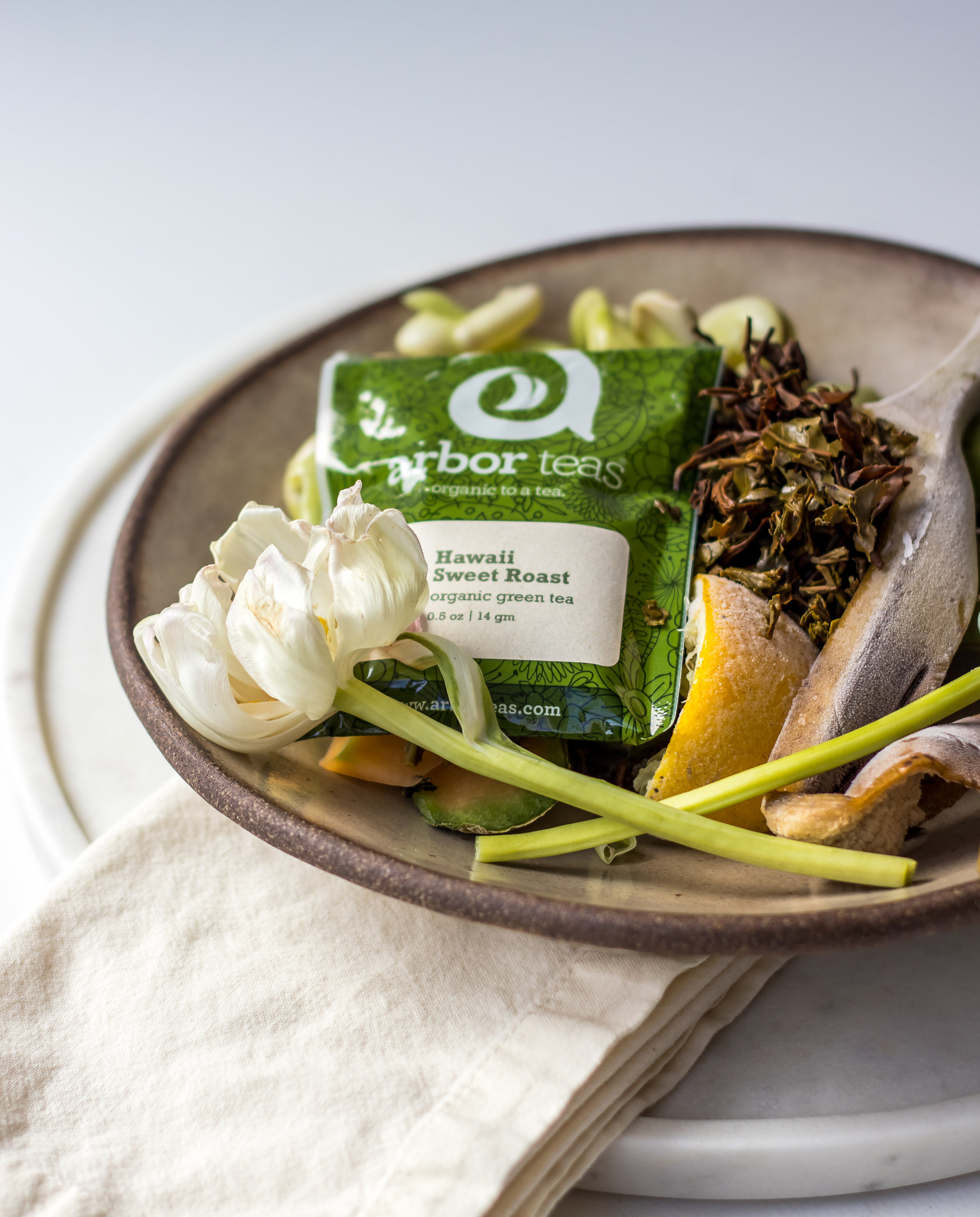 Arbor Teas packaging is backyard compostable, even the labels!