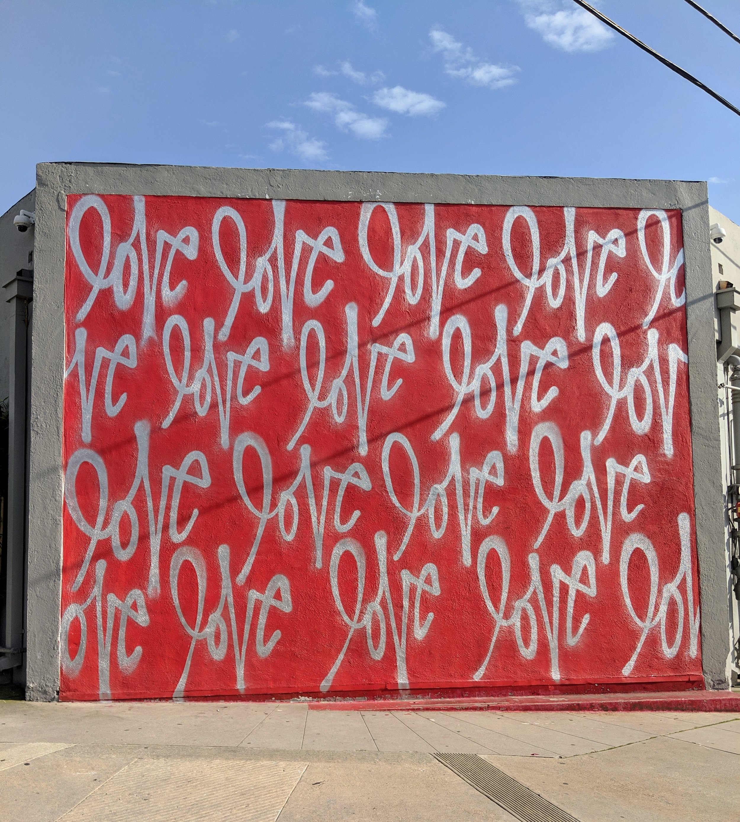 Tea and Murals. The Red Love Wall in Culver City