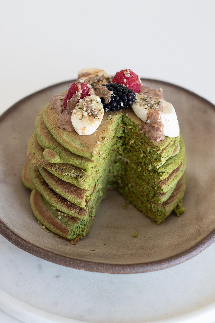 The Tea Squirrel's Matcha Pancakes recipe