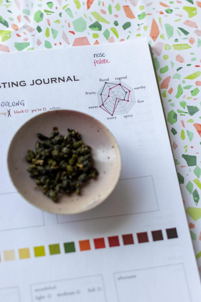 The flavor wheel diagram for Teawala Milk Oolong. Do you really need to take tea tasting notes? The Tea Squirrel blog.