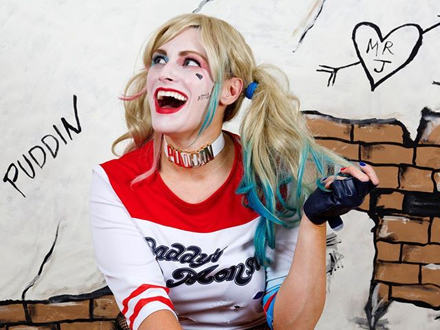 Come say HI at @saratogacomiccon on 4/27! In less than 10 days I'll be in full cosplay mode rockin' the crazy at my booth with prints for signing & sale.  I will also have this hand painted Puddin' backdrop I made to take a selfie in front of with 'Harley'! 📸 . . Photo of me here by @johnjordan . . #cosplay #cosplaygirl #cosplaygirls #cosplayer #comicon #saratogacomiccon #cartoon #paint #pinupgirl #cosplaymodel #cosplaysexy #cosplayfun #diycostume #cosplayofinstagram #cosplayersofig