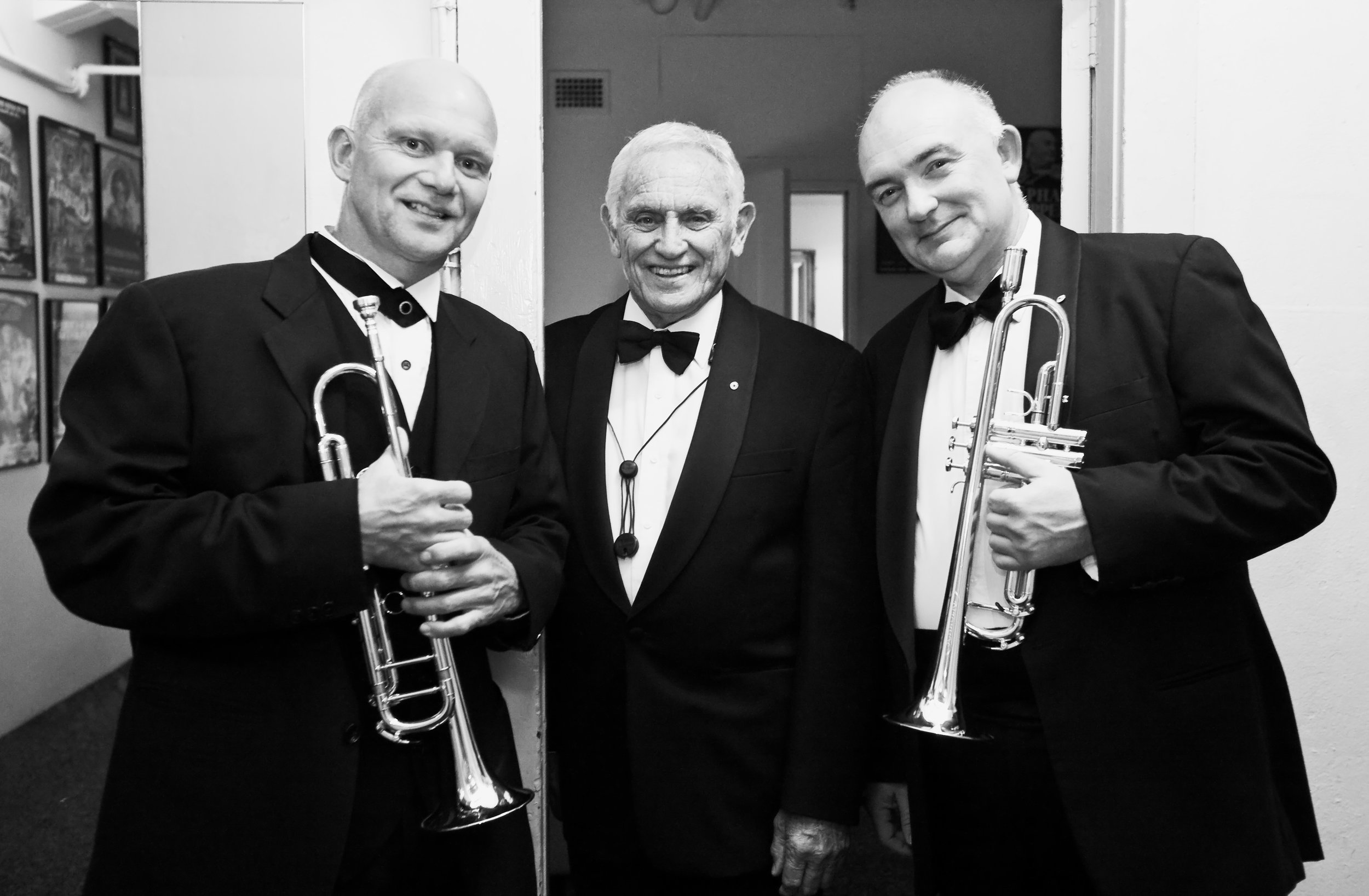 Ralph pictured (left) with Don Burrows and James Morrison