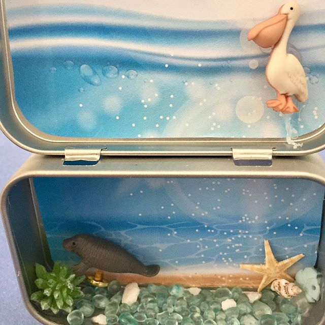 Manatee Habitat Craft #savethemanatees #manatee  #manateehabitat #craftsforkids #afterschoolprogram #afterschoolenrichment #crafting #altoidcrafts #toycrafts #minicrafts #goodluckminis