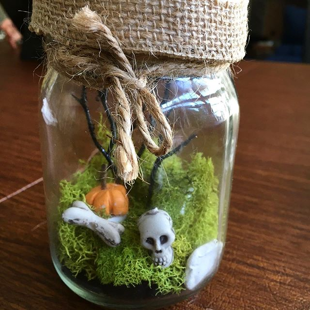 An oldie, but goodie! I love my haunted graveyard  night light! 🎃 💡 💀 I'm glad I made one for myself! #spooky #halloweendecorations #halloweencrafts #craftsforkids #craftsforeveryone #thepaintedbirdcrafts #craftworkshops #halloweengraveyard #minigraveyarscraft #funcrafts #halloweennightlight