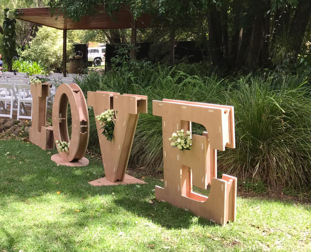 "PROJECT: Free Standing 'LOVE"" Letters"
