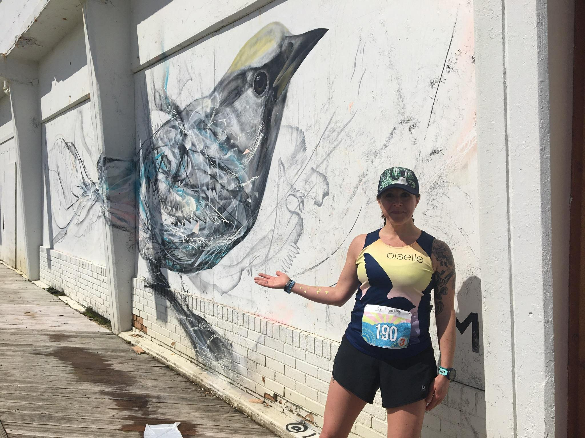 Me and My Spirit Animal at Mile 20  Photo cred: Random Dude on Course