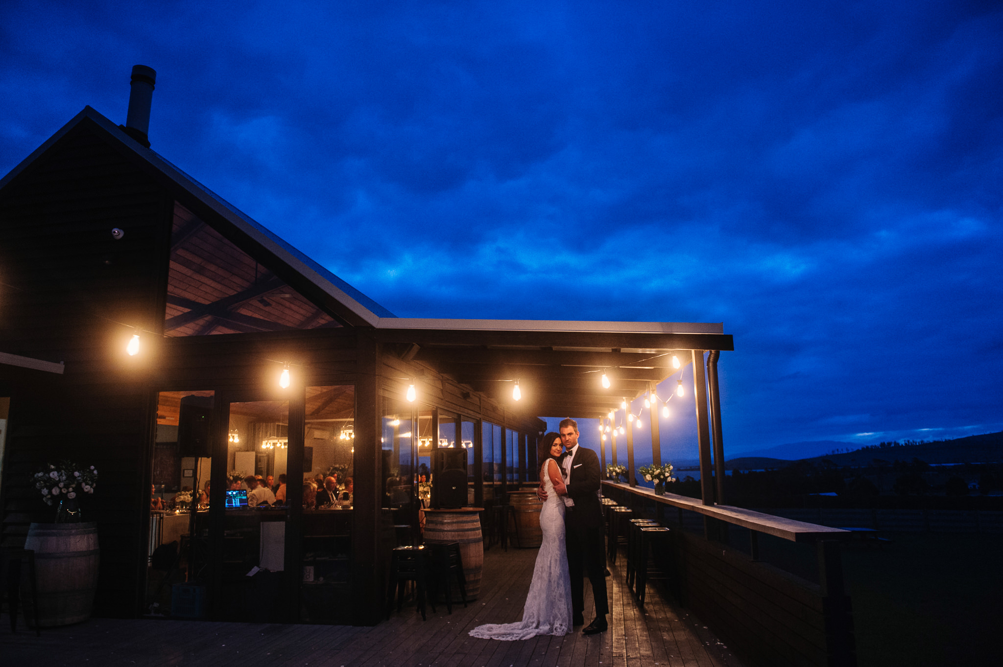 Steph and Matt Bangor Wine Shed Wedding