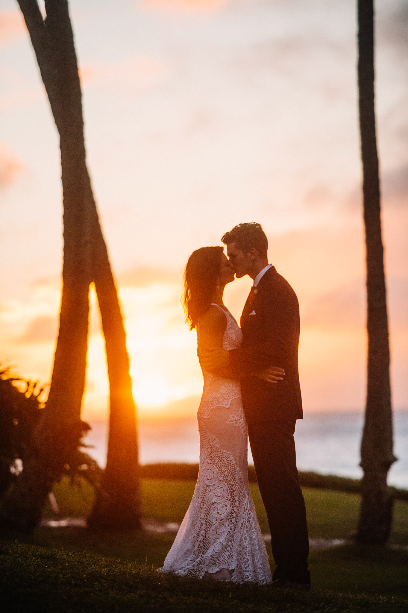 Merrimans Maui Wedding sunset