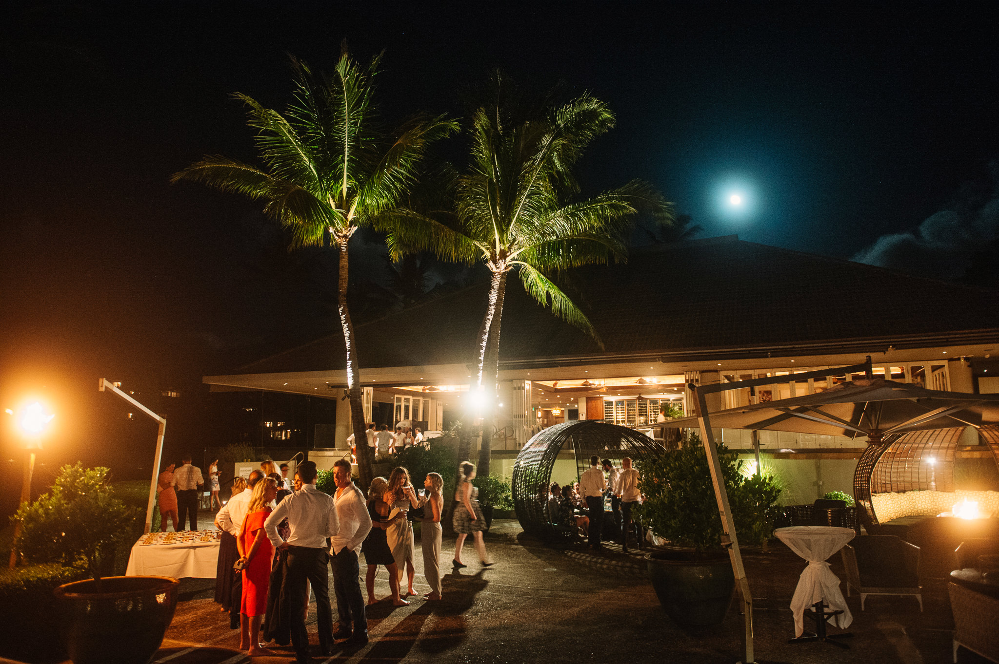 Merrimans Maui Wedding reception