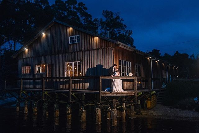 Elly + Hamish with an awesome team of people // to those who've asked about this amazing venue - it's a private property in the Huon Valley. . . . . #tasmanianwedding #tasmanianweddingphotographer #huonvalley