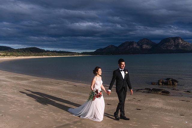 Hsin + Roopak @saffirefreycinet // I never take for granted the incredible locations we get to enjoy in Tasmania,  often as the only people there. . . . . #tasmanianwedding #tasmanianweddingphotographer #elopetotasmania #destinationwedding #eastcoasttasmania #saffirefreycinet