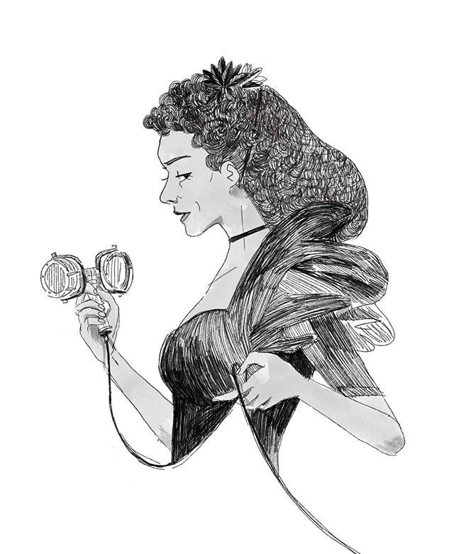 brother, what's my name? --- just a late-night doodle to satisfy my @hadestown needs 🥀 #hadestown #hadestownmusical  #persephone #ambergray #karynslee #artistsoninstagram #illustration