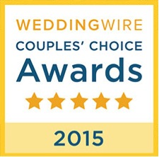 2015 WeddingWire Couples' Choice Recipient