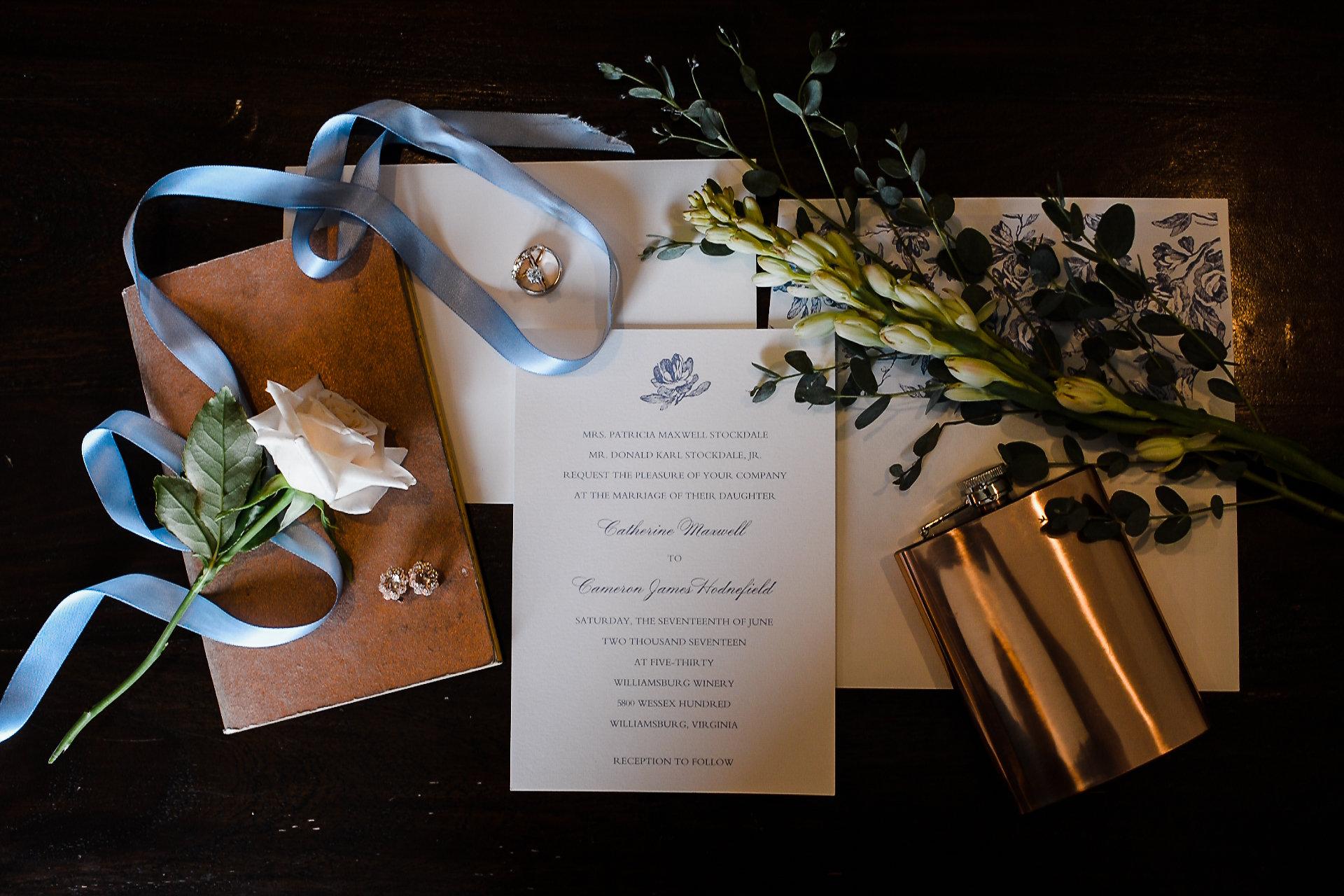 wedding invitation winery wedding light blue