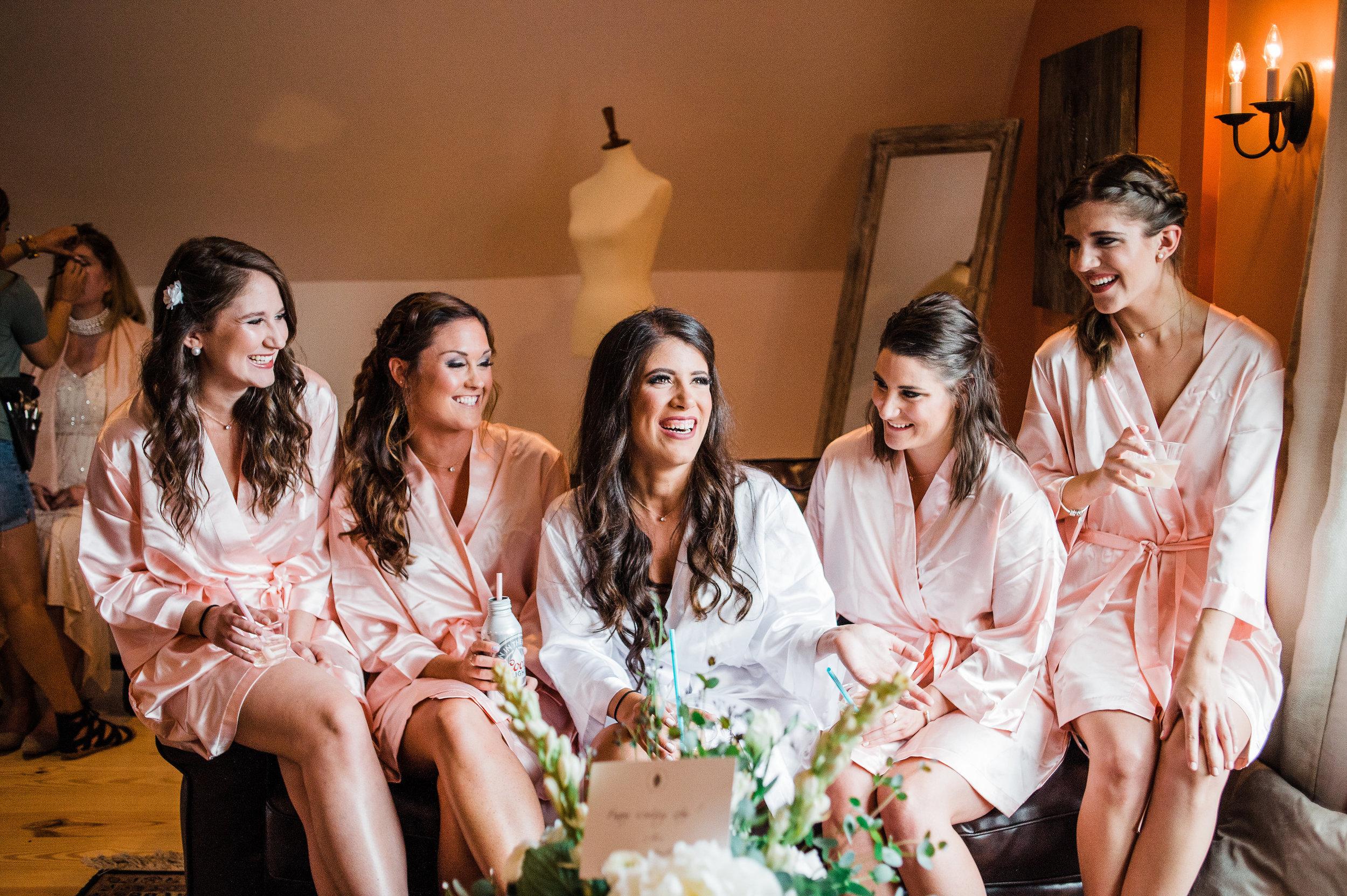 virginia winery wedding bridesmaid bridal suite