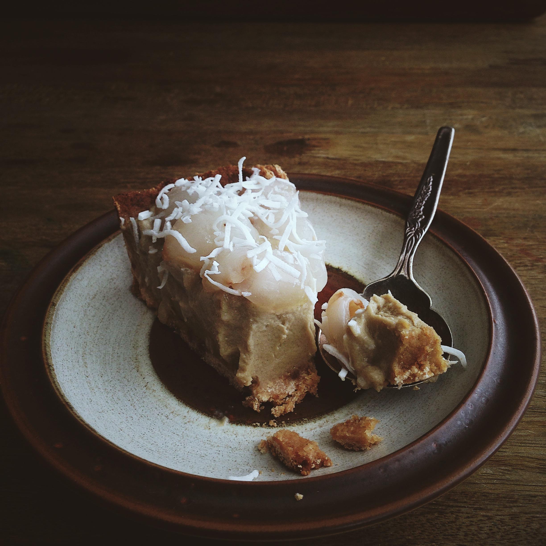 Coconut caramel lychee tart_slice.jpg
