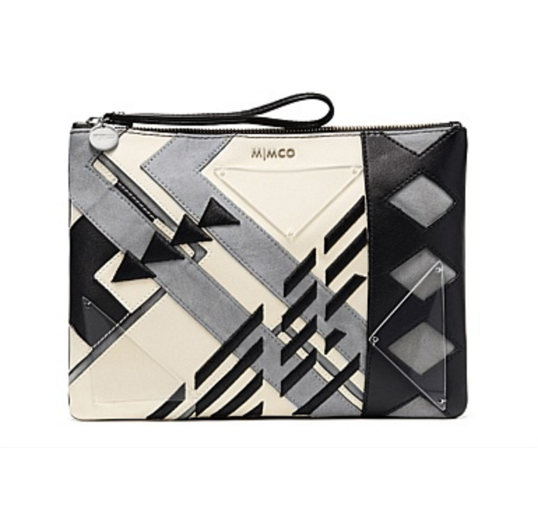 Mimco fractura large pouch $179