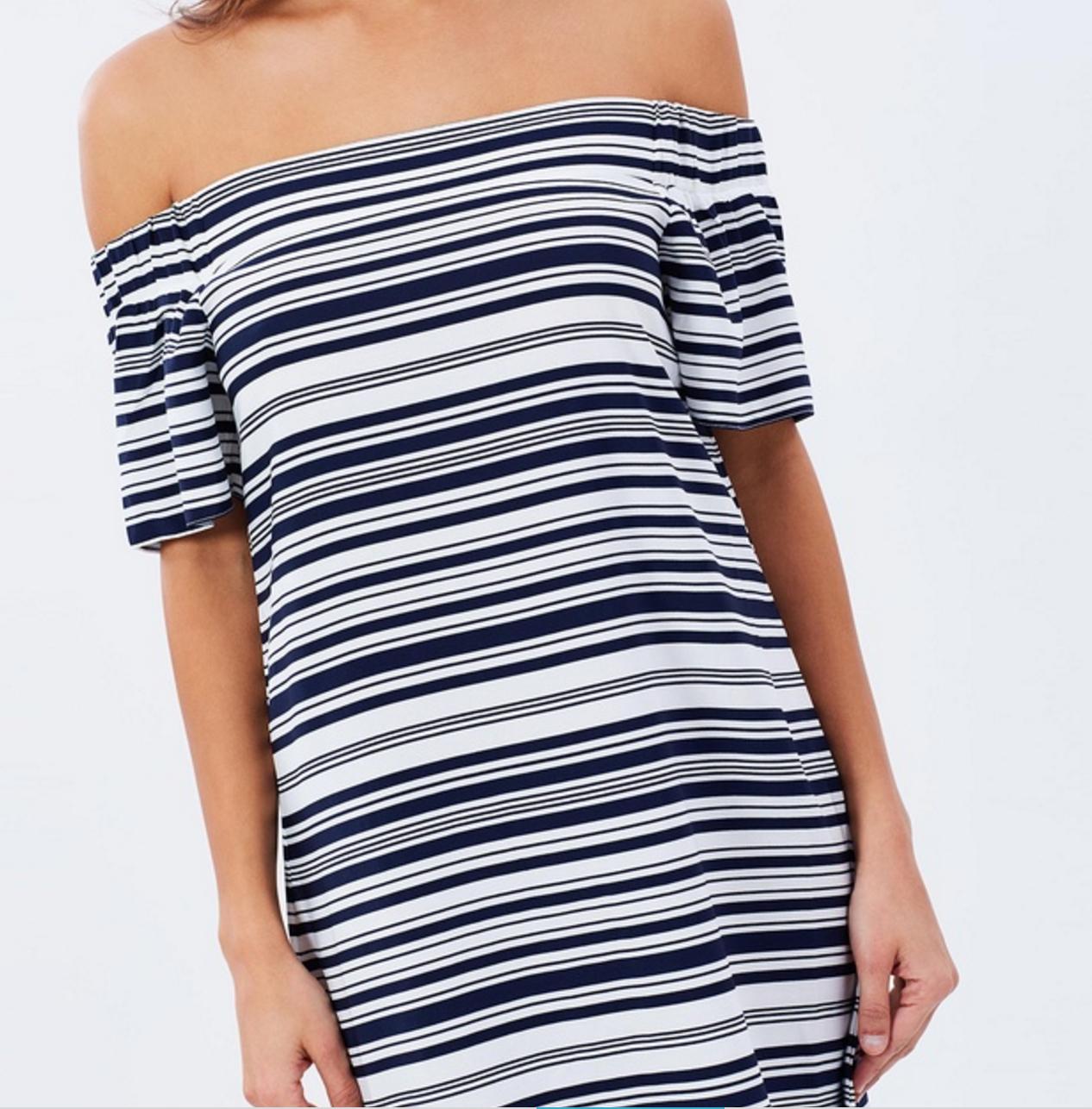 Atmos & Here Heidi off shoulder dress $59.95