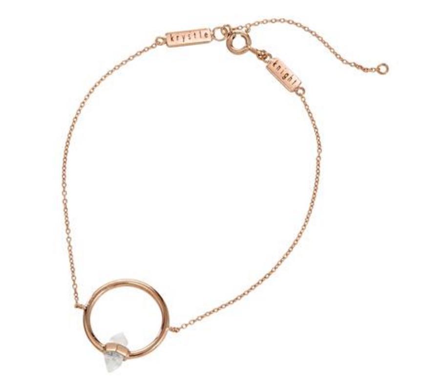 Krystal Knight crystal aura circle bracelet $79