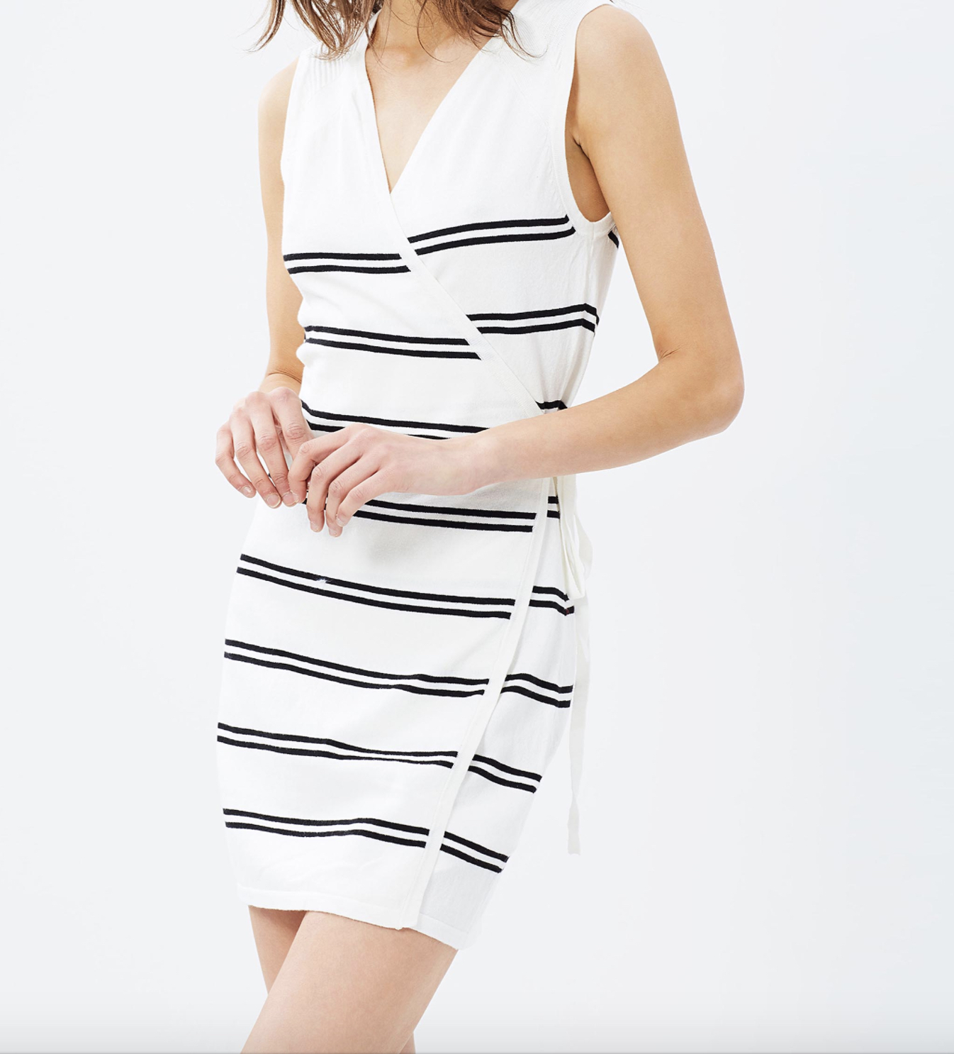 Staple the Label now or never wrap knit dress $89.95