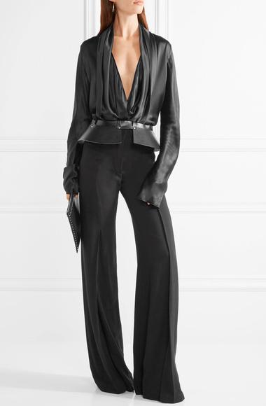 Zana Bayne leather waist belt $254