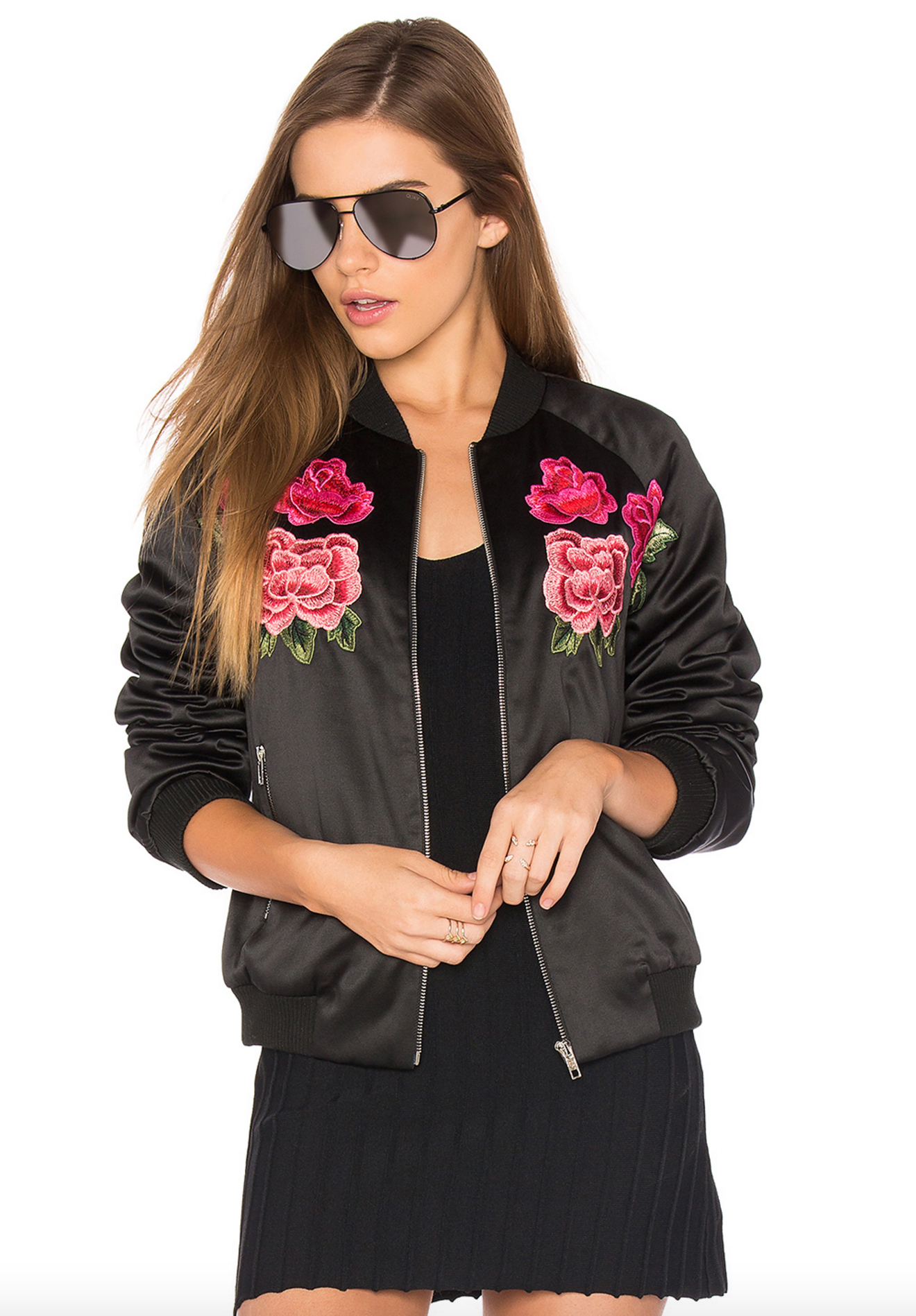 Endless Rose floral embroidered bomber $164