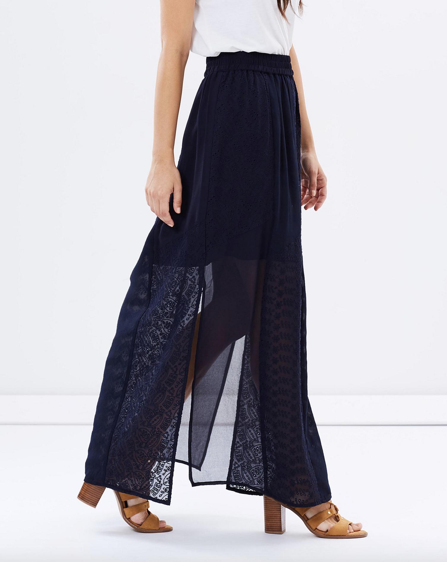 Dorothy Perkins broderie maxi skirt $69.95