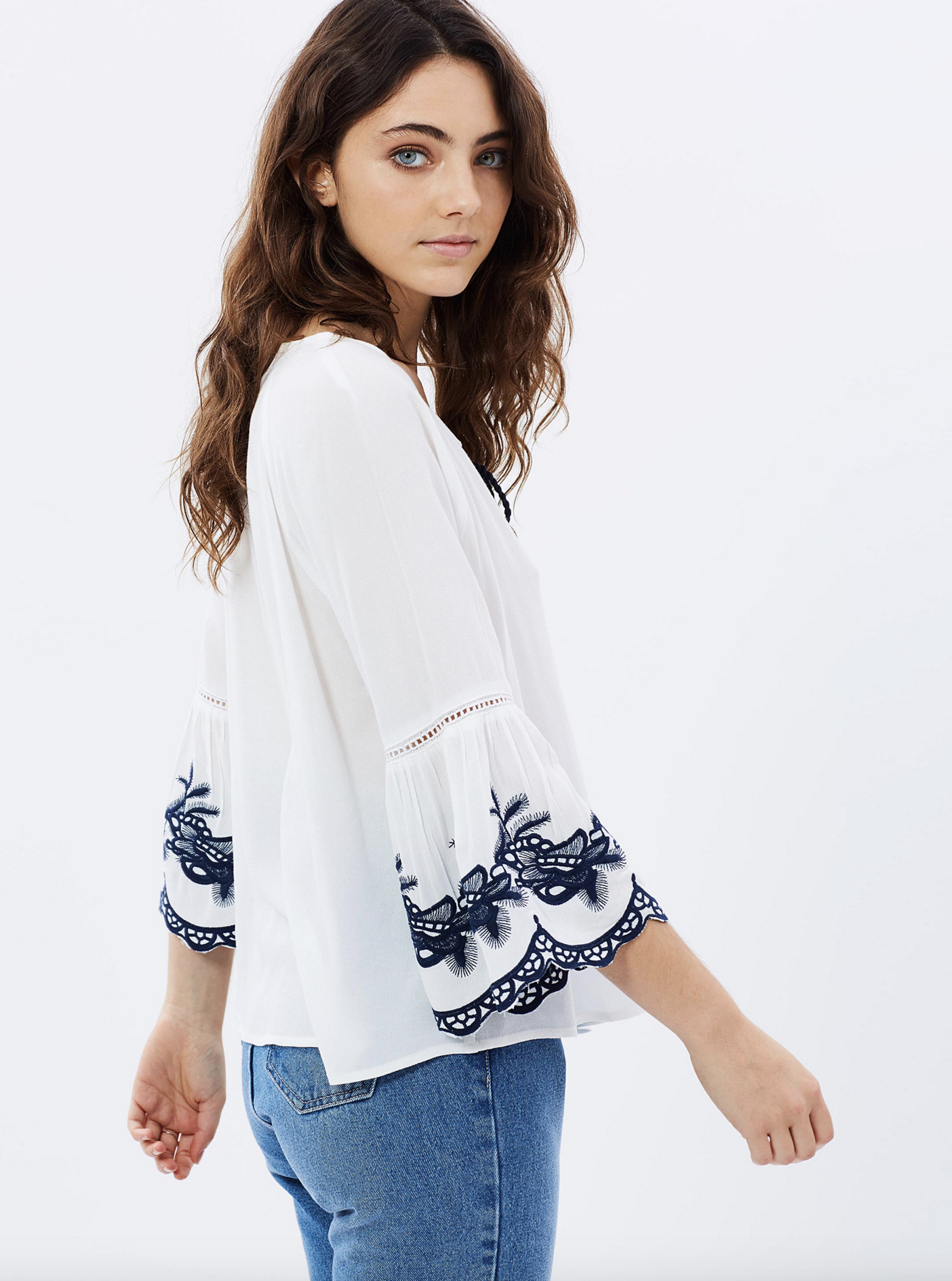Atmos & Here Giselle gypsy blouse $59.95