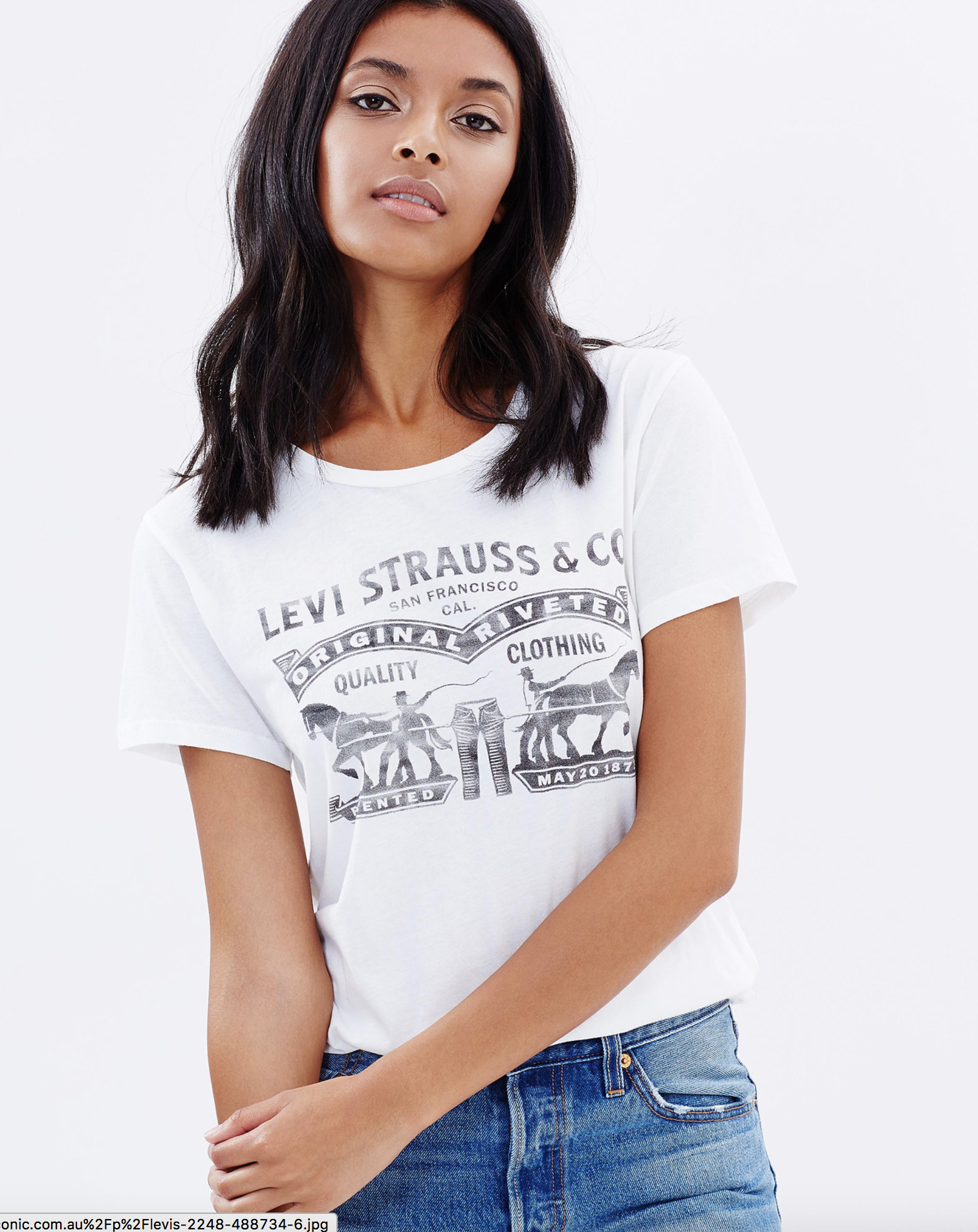 Levis the perfect tee better two horses $39.95