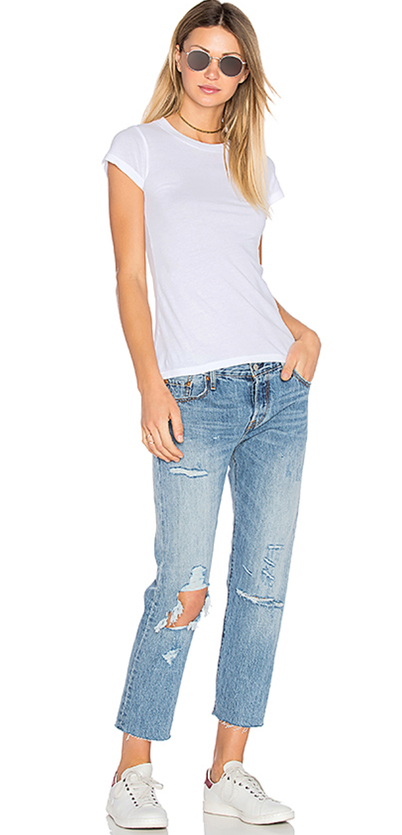 Levis jeans, LA made tee
