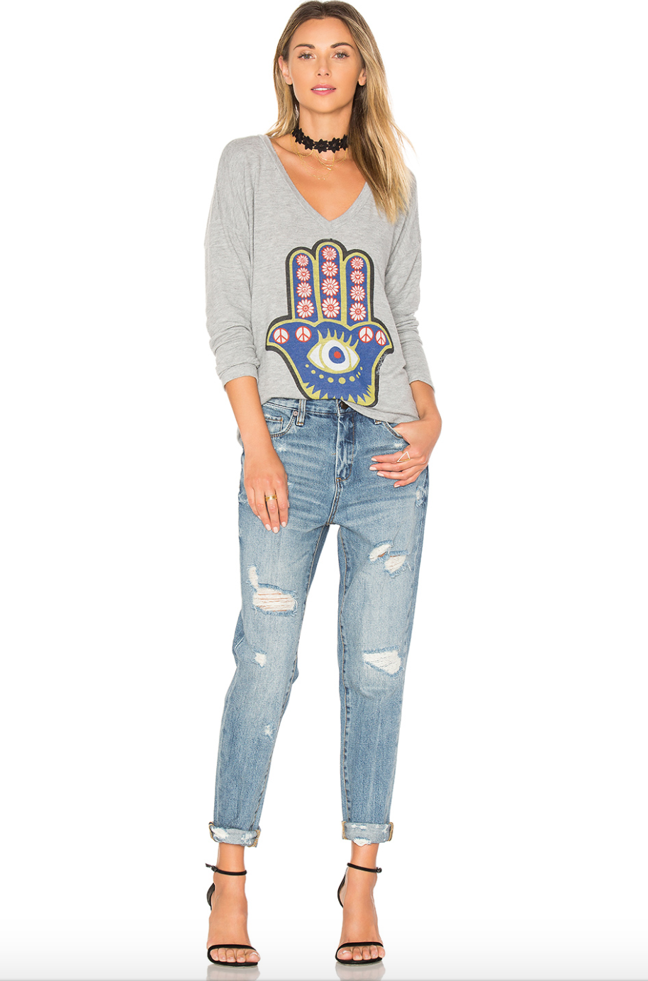 BLANK NYC distressed boyfriend jeans $127