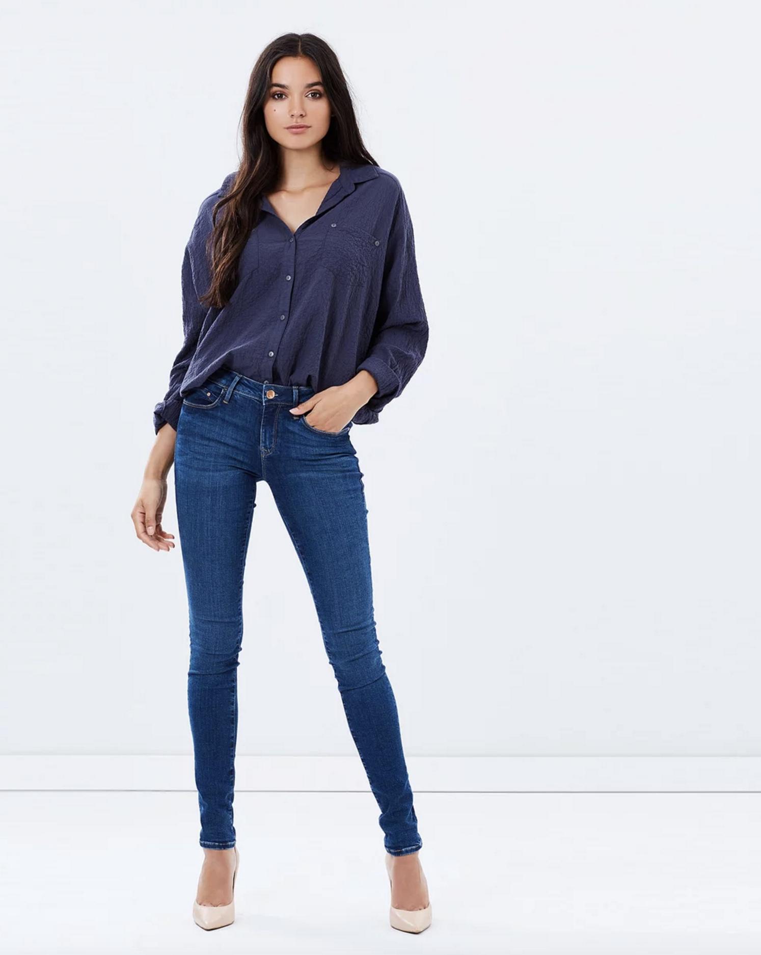 Mavi Jeans Alexa mid rise skinny $159
