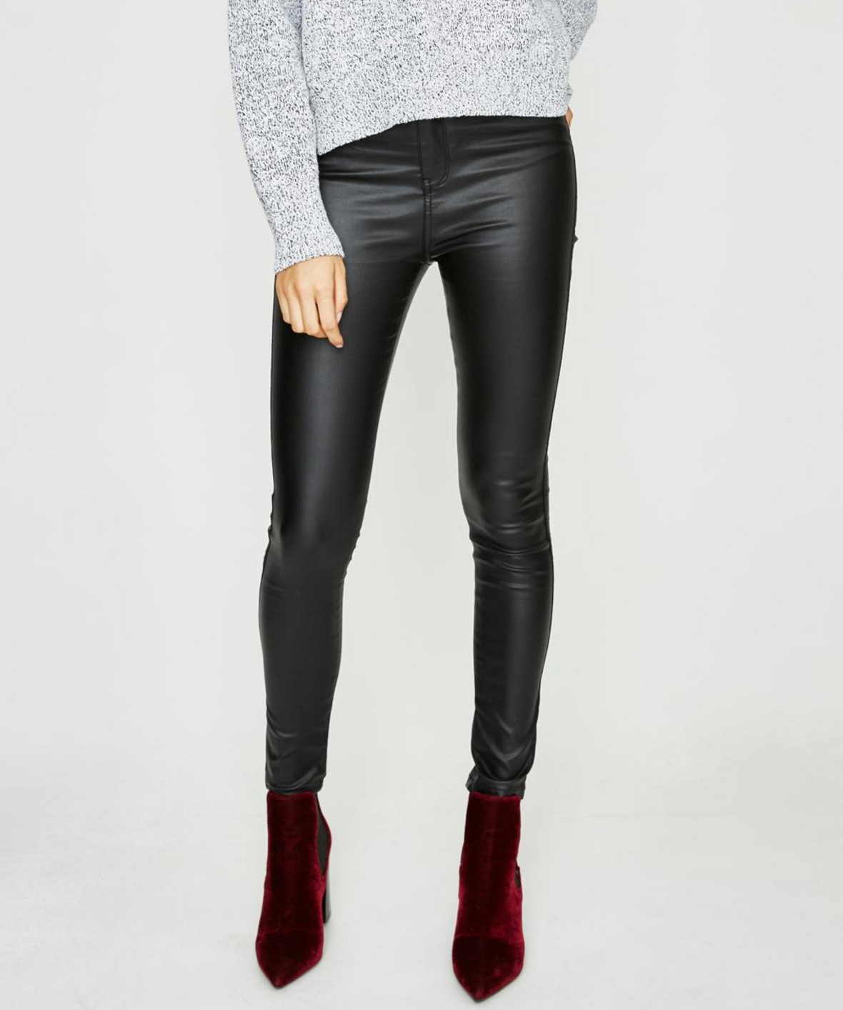 Neon Hart Patti coated jeans $89.95