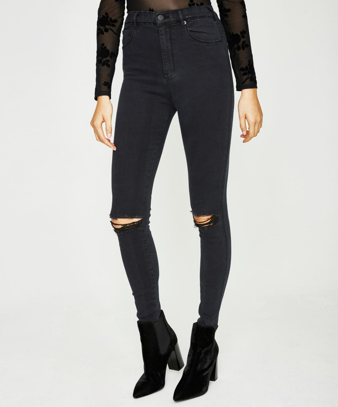 Neon Hart Patti ripped jeans $79.99
