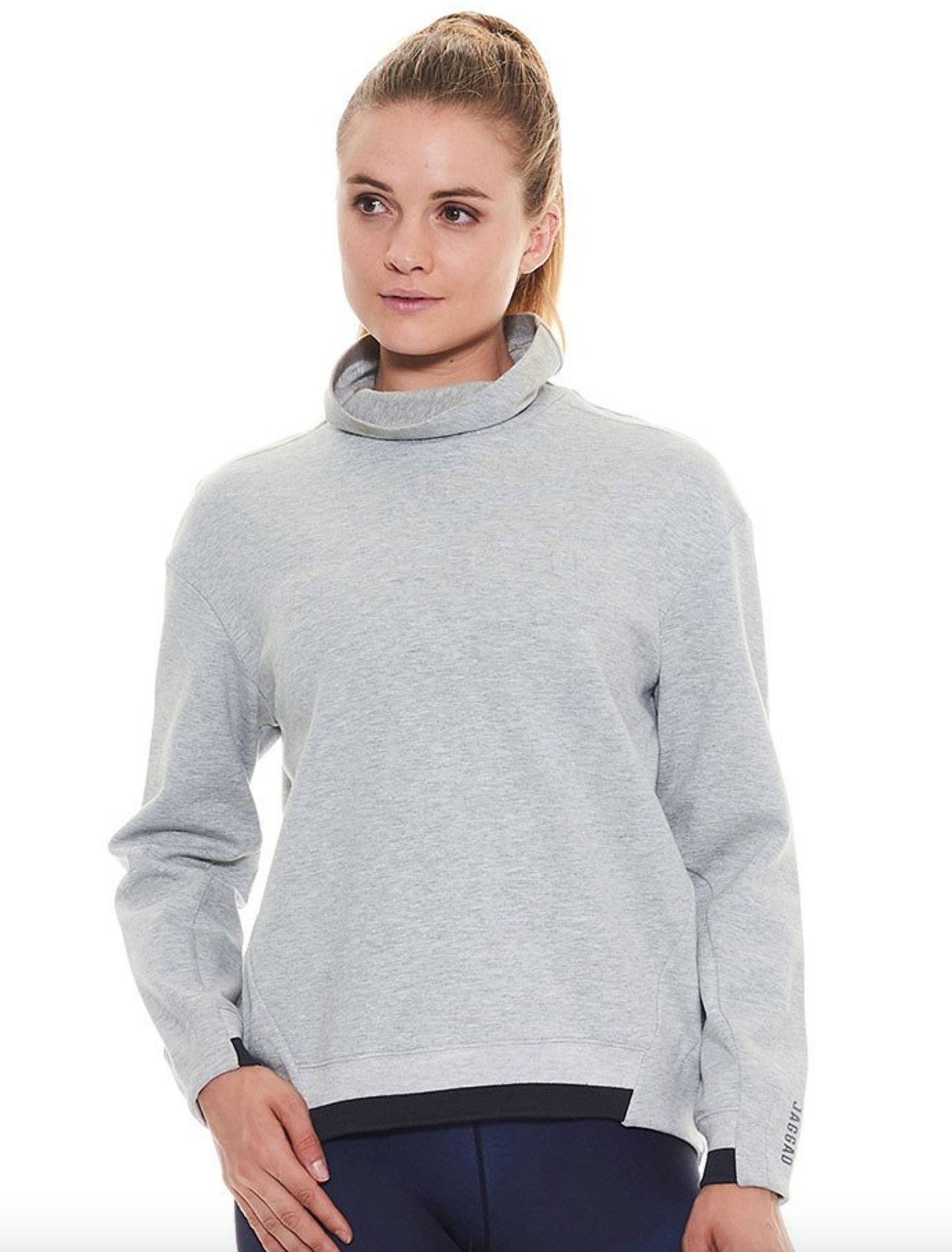 Jaggad clouded turtle neck sweat $129.95