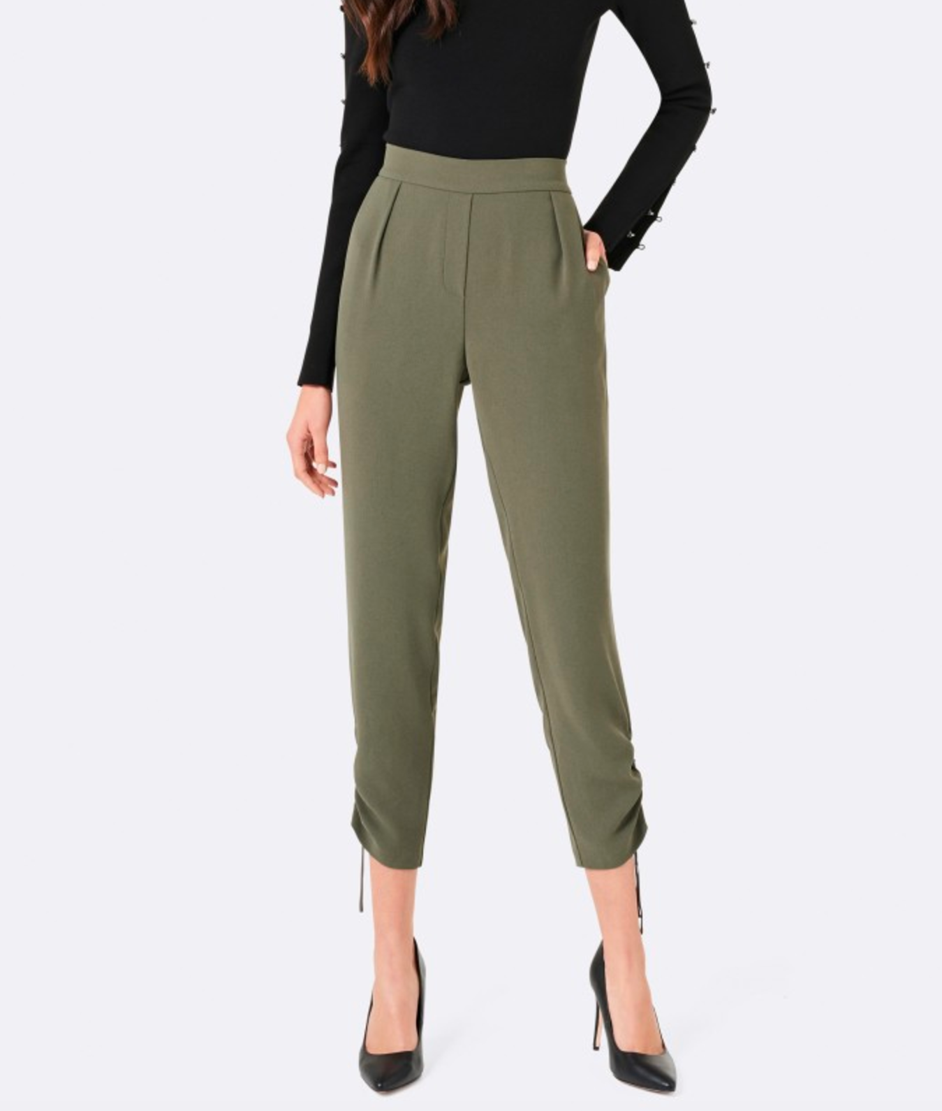 Forever New Tamika ruched hem pant $89.99